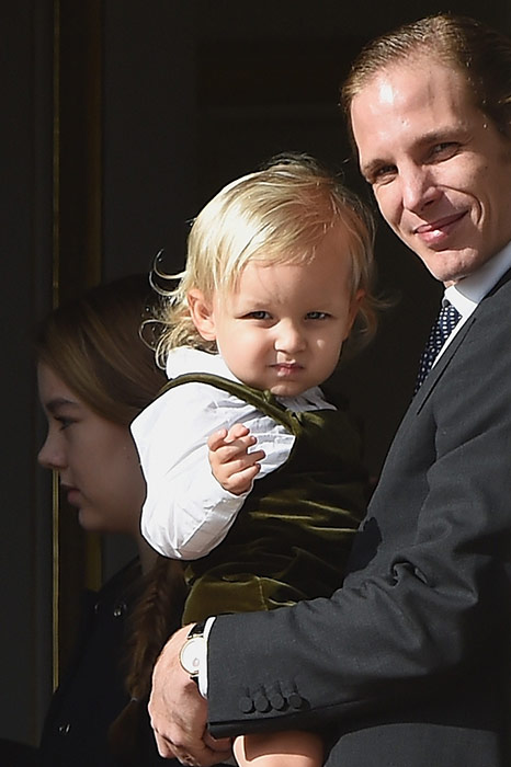 MONACO ROYAL FAMILY: November 2014 Andrea Casiraghi with his son Sacha great grandson of Grace Kelly Princess Grace of Monaco