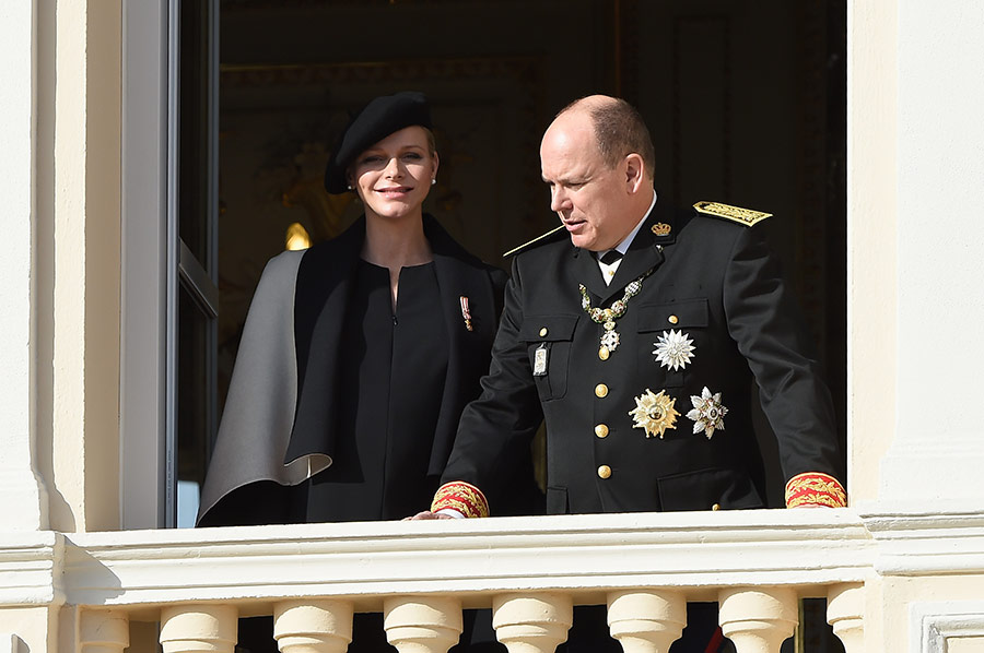 MONACO ROYAL CHILDREN: Prince Albert and pregnant wife Princess Charlene, November 2014 in Monaco
