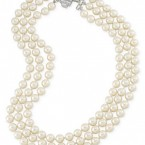 Macy's sale: Carolee Silver-Tone Deco Crystal Imitation Pearl Three-Row Necklace