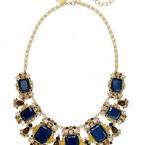 Macy's sale: kate spade new york Gold-Tone Blue Stone Graduated Frontal Necklace