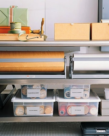 Photos of home organization - ideas for organising your workspace, home office or craft room