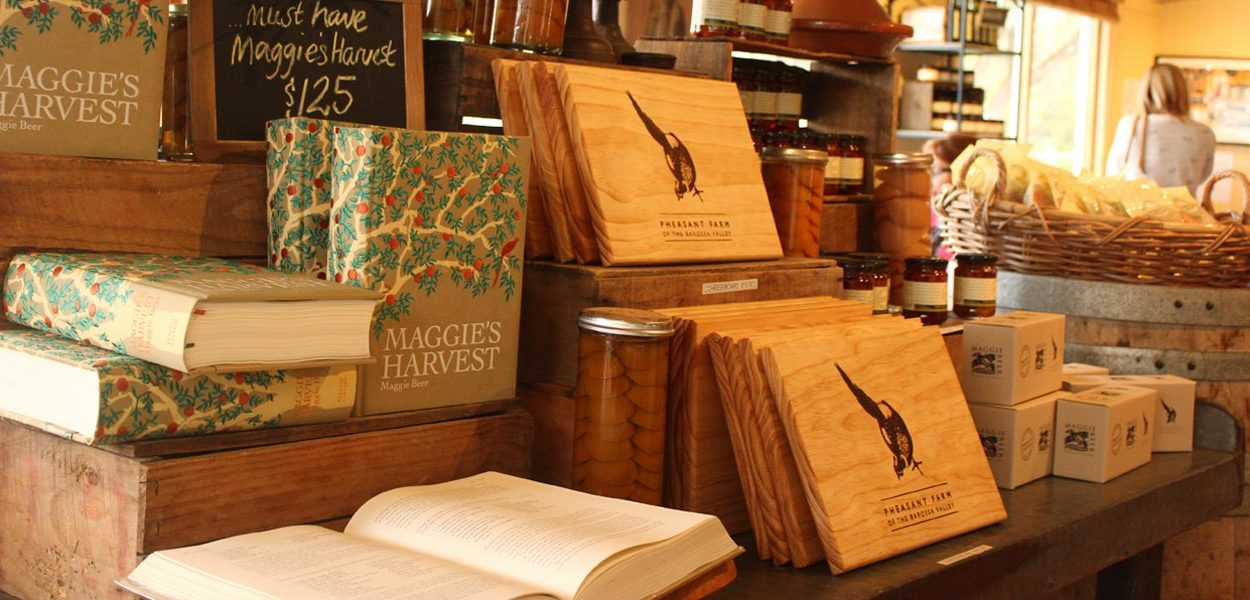 LUSCIOUS TRAVEL: Inside Maggie Beers' Farm Shop - Maggie Beer produce and books - Barossa Valley