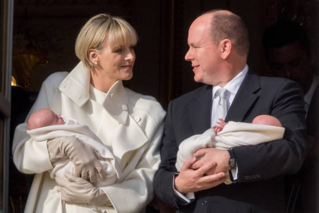 Official presentation of the Monaco twins : Princess Gabriella of Monaco  And Prince Jacques of Monaco of the new Monaco prince and princess - Jacques and Gabriella