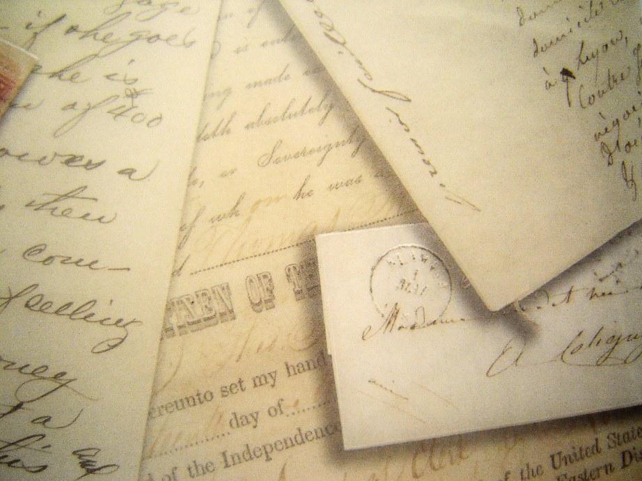 Literary lusciousness - a pile of old manuscripts via myLusciousLife.com