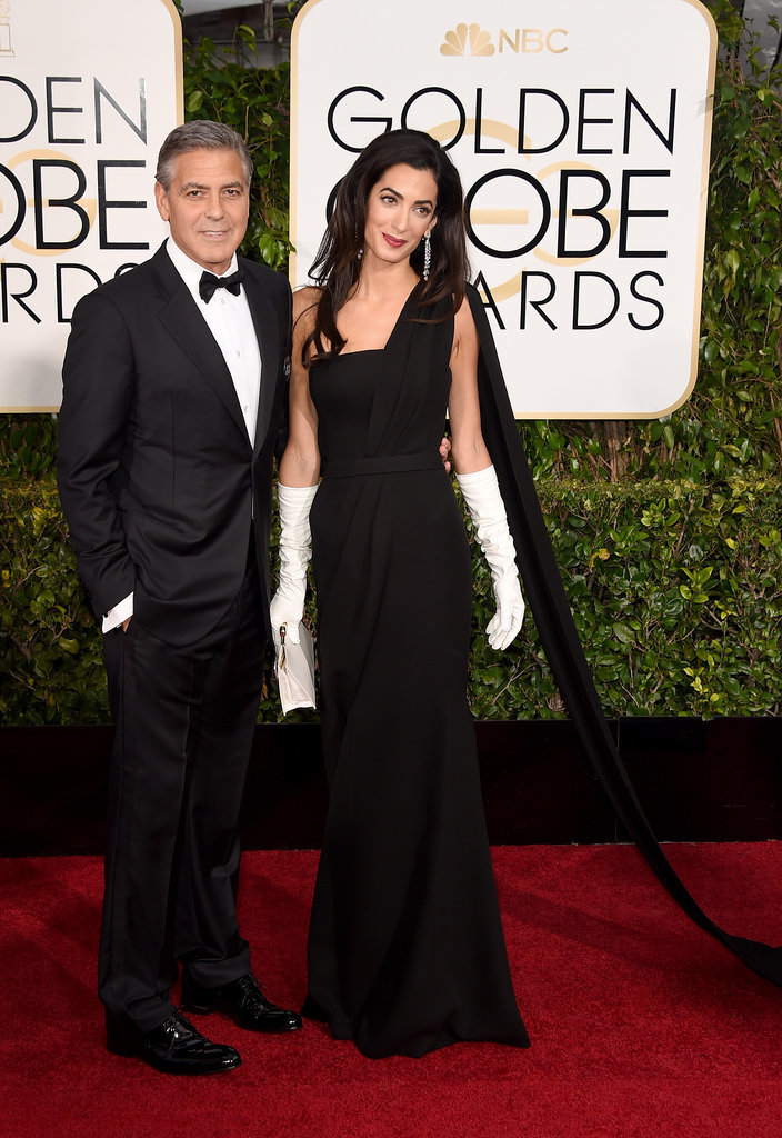 George and Amal Clooney in Dior Couture