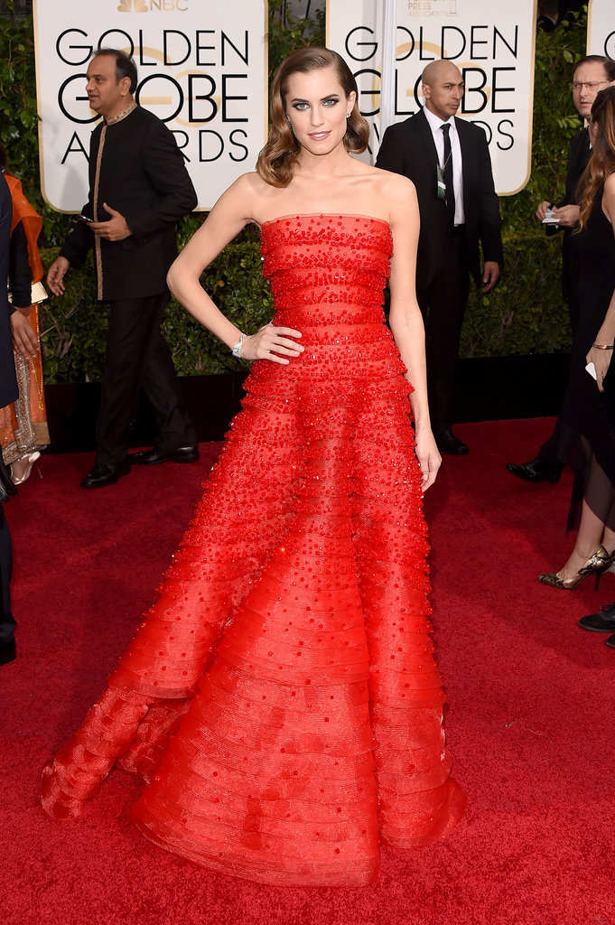 Golden Globes 2015 fashion - Allison Williams in Armani
