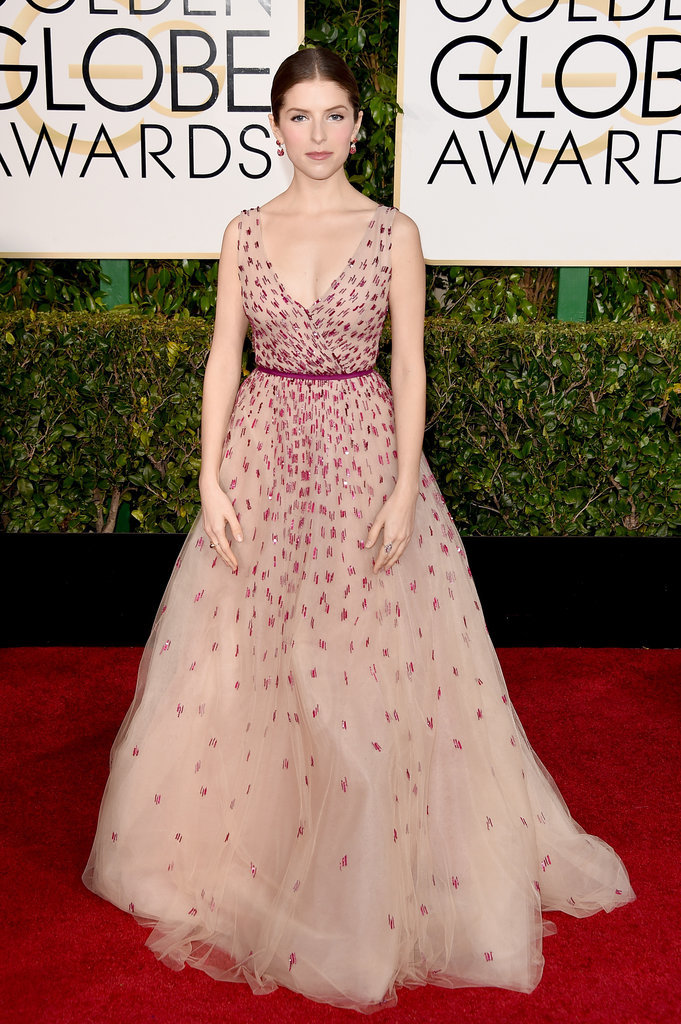 Golden Globes 2015 fashion - Anna Kendrick in Monique Lhuillier