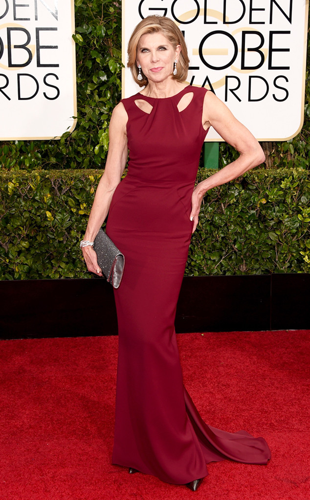 Golden Globes 2015 fashion - Christine Baranski in Zac Posen