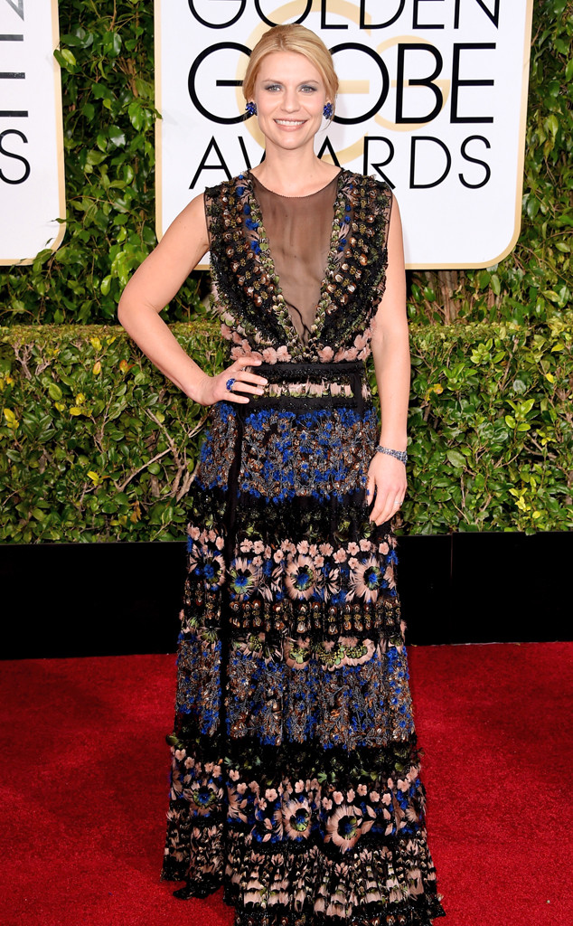 Golden Globes 2015 fashion - Claire Danes in Valentino