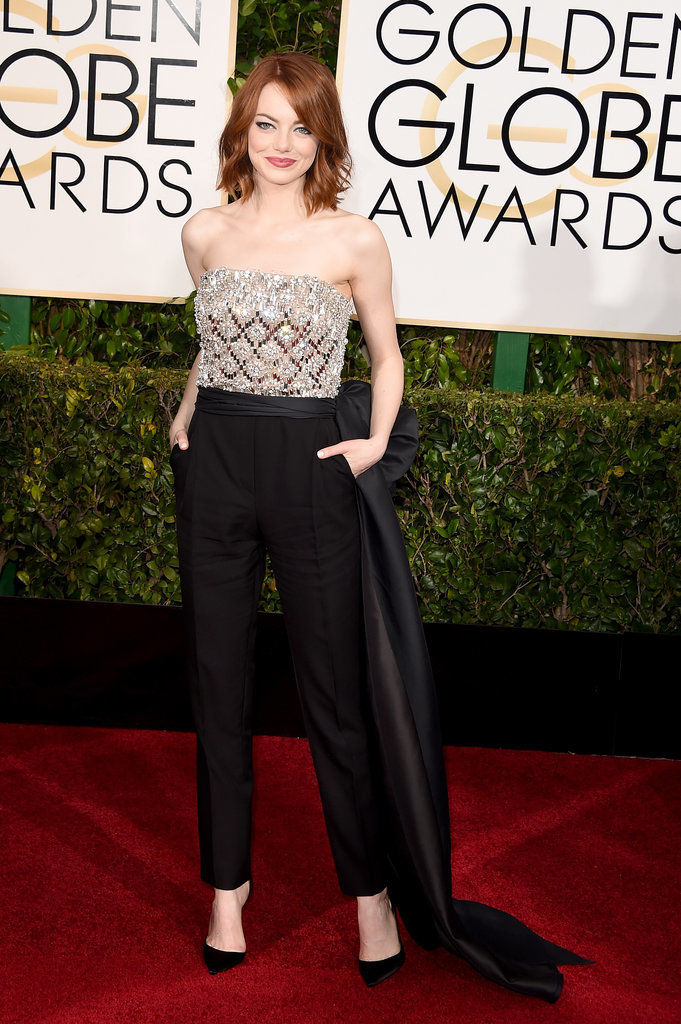 Golden Globes 2015 fashion - Emma Stone
