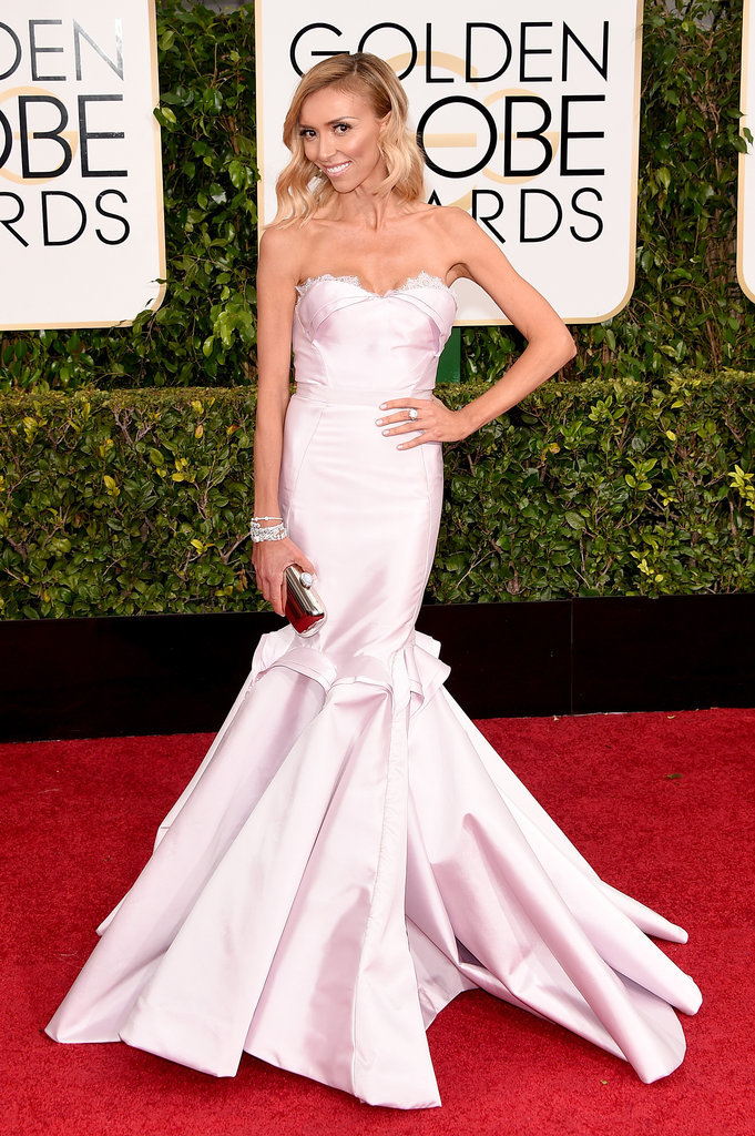 Golden Globes 2015 fashion - Giuliana Rancic in Maria Lucia Hohan