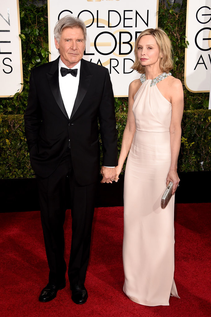 Golden Globes 2015 fashion - Harrison Ford and Calista Flockhart