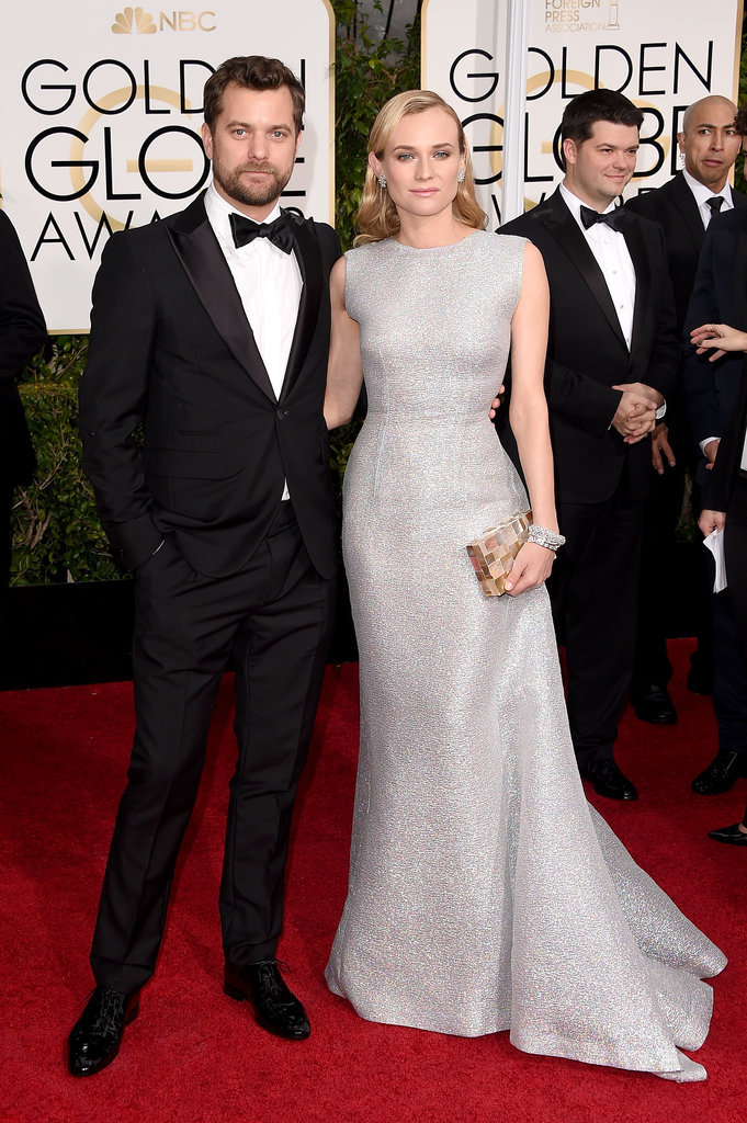 Golden Globes 2015 fashion - Joshua Jackson and Diane Kruger in Emilia Wickstead
