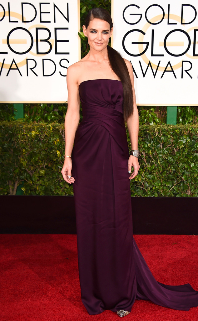 Golden Globes 2015 fashion - Katie Holmes in Marchesa