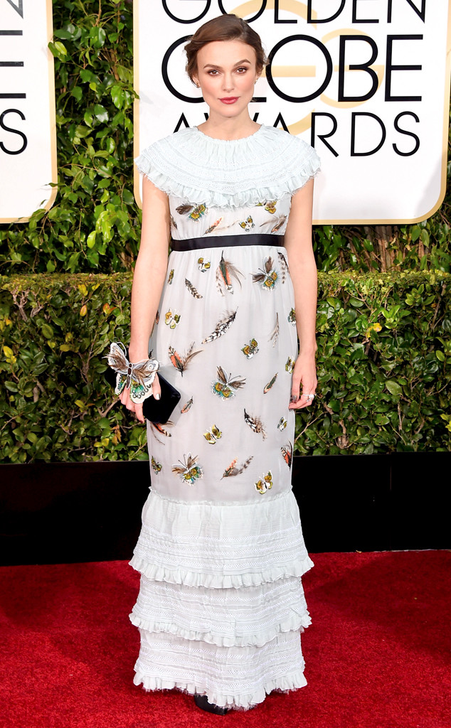 Golden Globes 2015 fashion - Keira Knightley in Chanel