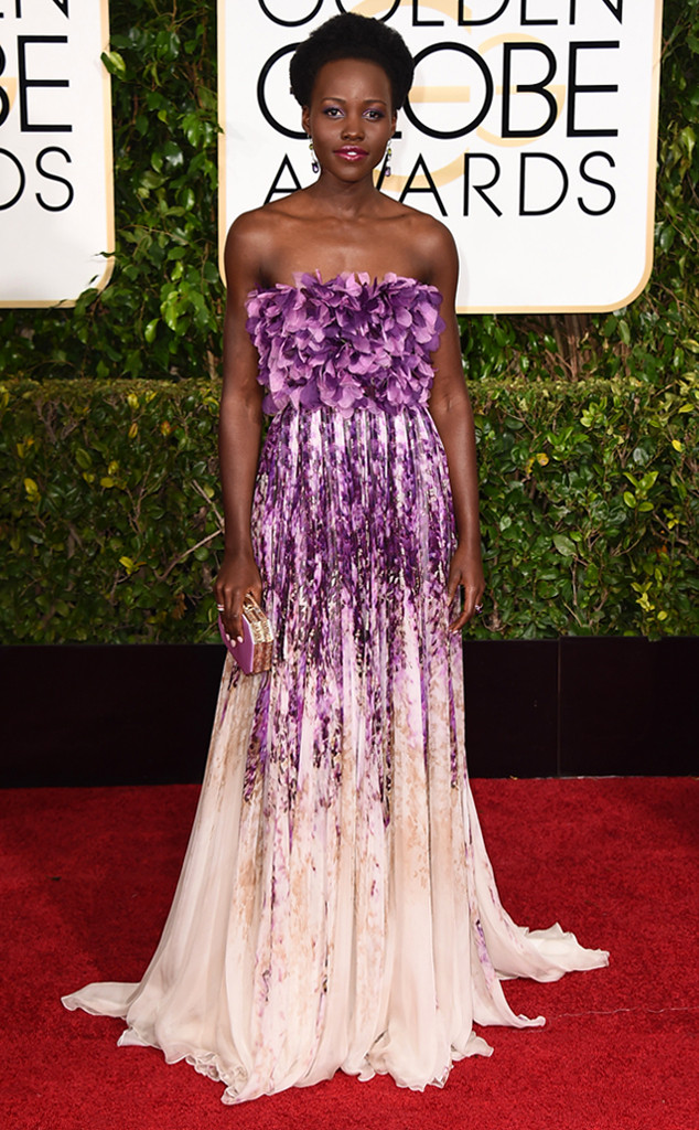 Golden Globes 2015 fashion - Lupita Nyongo in Giambattista Valli Couture