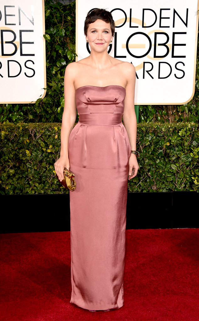 Golden Globes 2015 fashion - Maggie Gyllenhaal in Miu Miu