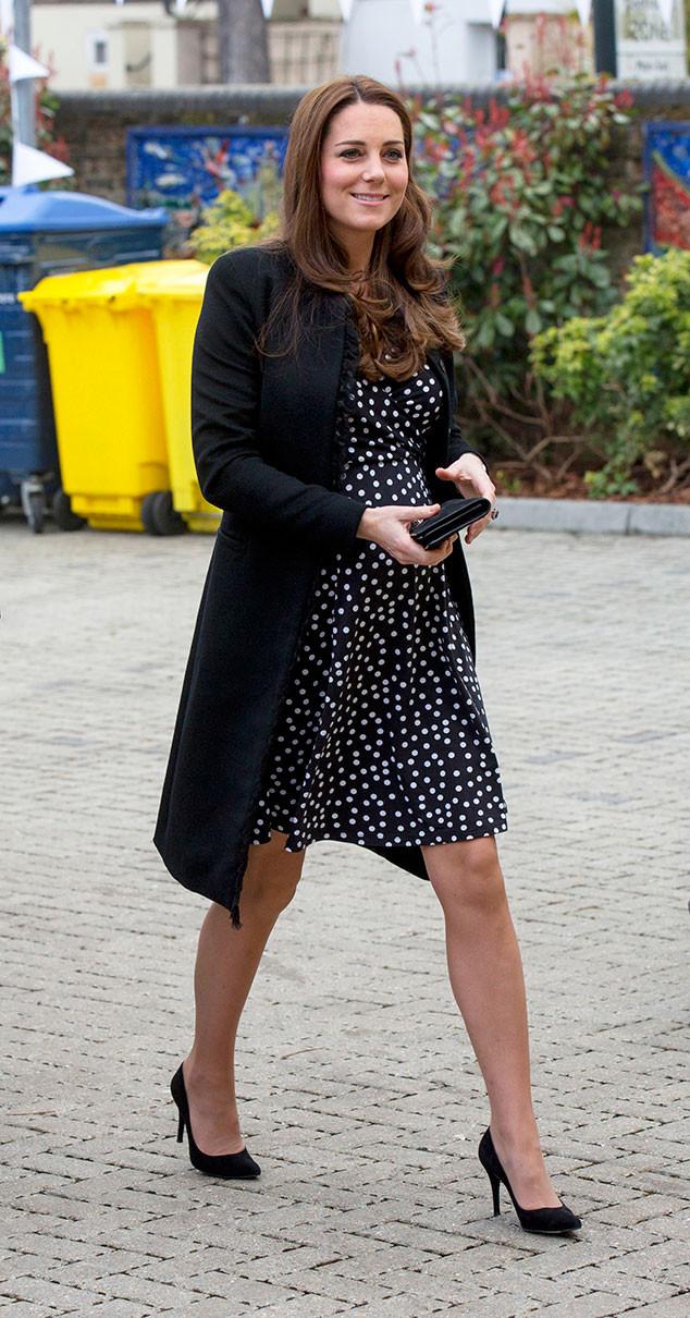 Royalty Kate Middleton Polka Dot Maternity Dress For Baby