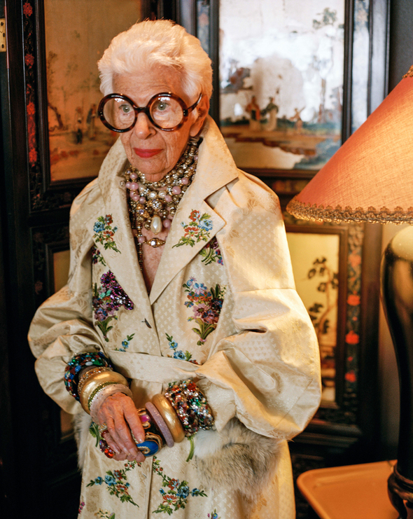 FASHION DOCUMENTARY FILMS: Iris Apfel documentary - photo by Bruce Weber