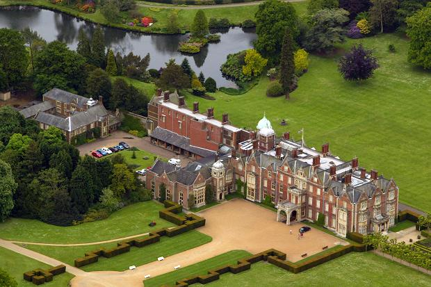PHOTOS Aerial view of the Queen's Sandringham Estate, Norfolk