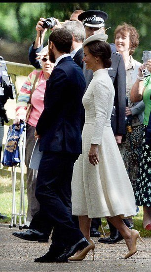 ROYAL: Pippa Middleton wearing Emilia Wickstead to Princess Charlotte christening 2015
