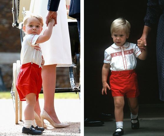 PHOTOS: Prince George in 2015 and Prince William in 1984 wearing red and white outfit