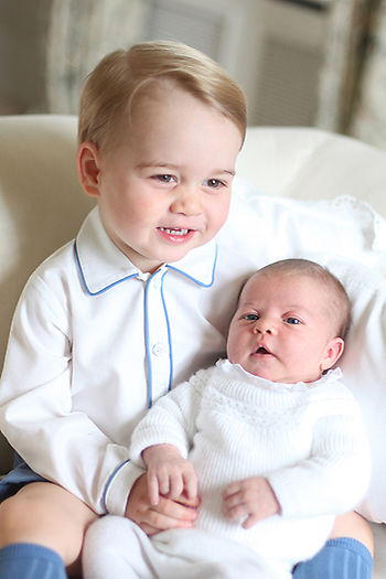 OFFICIAL Princess Charlotte and Prince George first official pictures - May-June 2015