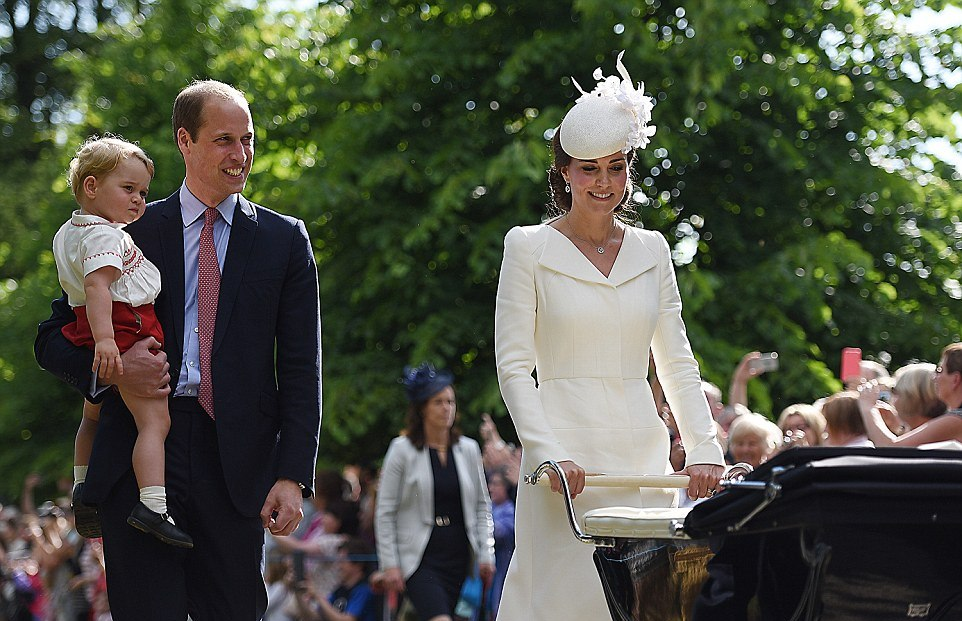 BRITISH ROYAL FAMILY PHOTOS: Princess Charlotte christening at Sandringham July 2015