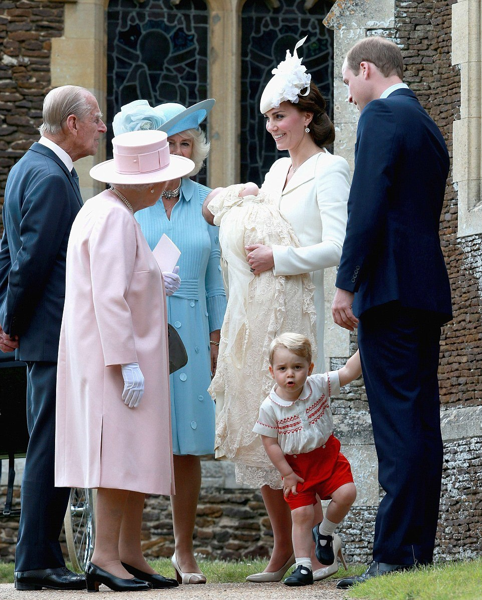 ROYAL PICTURES: Princess Charlotte christening at St Mary Magdalene Church in Sandringham July 2015