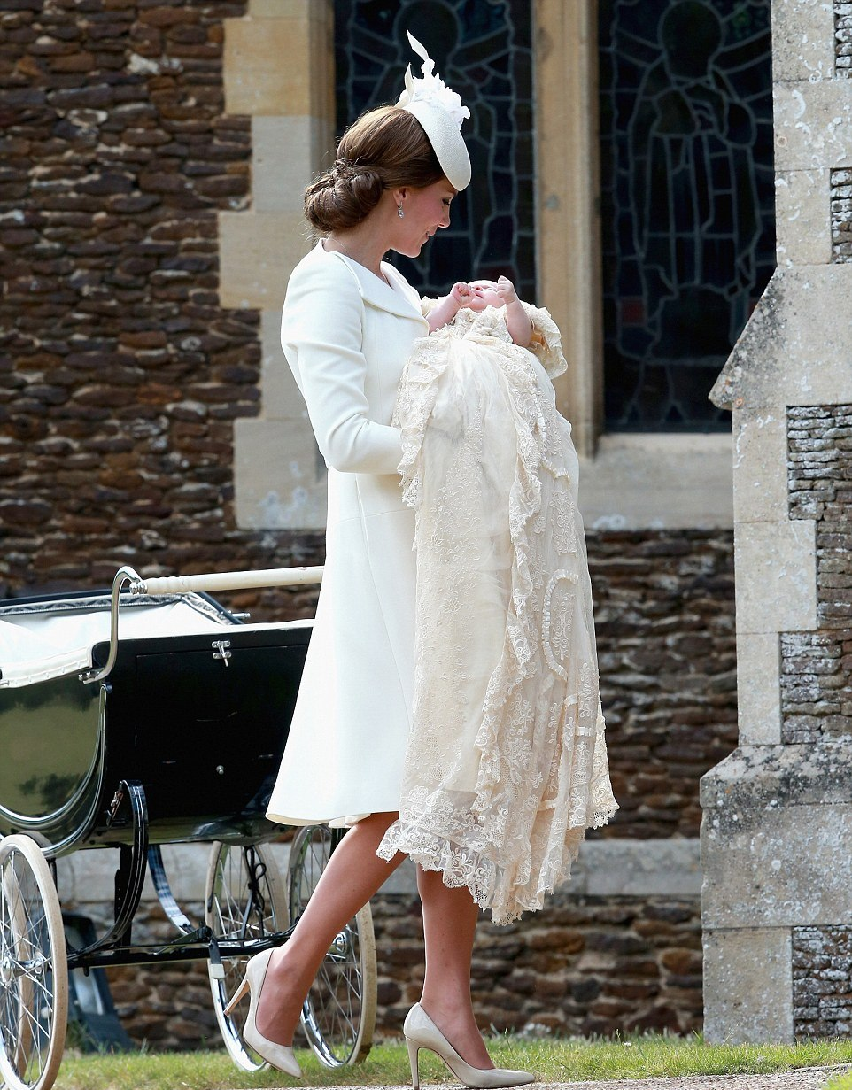 ROYAL PHOTOS: Princess Charlotte christening in her pram en route to St Mary Magdalene Church in Sandringham