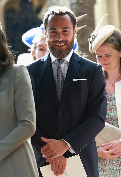 PHOTOS: Uncle James Middleton at Princess Charlotte's christening July 2015