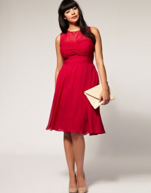 Where to get dresses for plus size - Naomi Shimada - Midi Dress at Asos Curve.jpg
