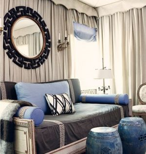Celebrity closet ideas - Mary McDonald Room Black Greek Key Mirror.jpg
