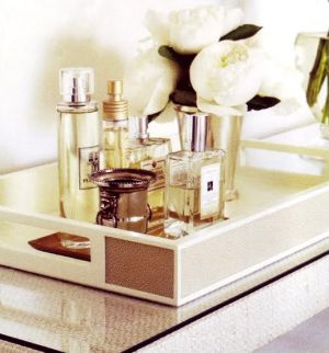 Dressing room ideas - Boudoir tray of perfume bottles.jpg