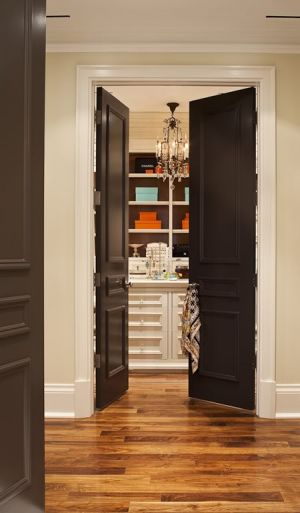 Rich and famous closets - Black Doors via House and Home.jpg