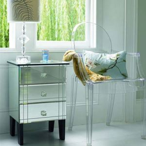 Shoe closet inspiration - Dorothy Mirrored Side Table.jpg