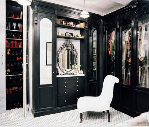 Boudoirs, walk-in wardrobes, closets, dressing rooms