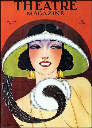 Art deco style - Vintage Theatre Magazine Cover--Bell Earrings 1924.jpg