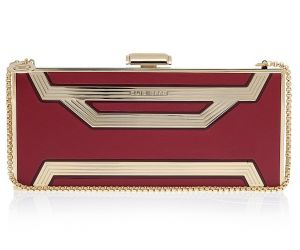 Elie Saab Rectangle Box Clutch Bag - red and gold.jpg