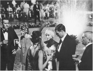 the great gatsby mia farrow robert redford - party scene.jpg