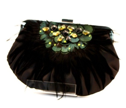 Style Tryst Bags Satin Puff Crystal Clutch Jpg