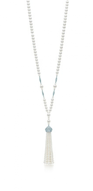 The Great Gatsby Collection pearl tassel necklace in platinum with diamonds - The Great Gatsby collection.PNG