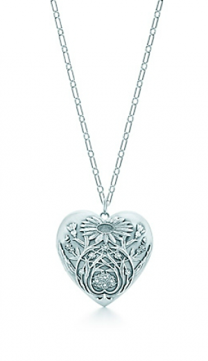 Ziegfeld Collection daisy locket in sterling silver on a chain - The Great Gatsby collection.PNG