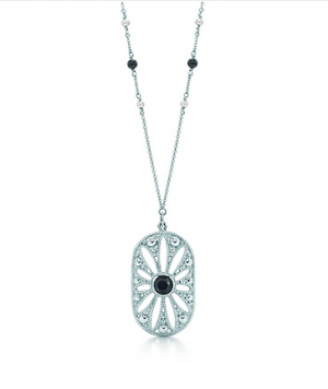 Ziegfeld Collection daisy pendant in sterling silver with black onyx - The Great Gatsby collection.PNG