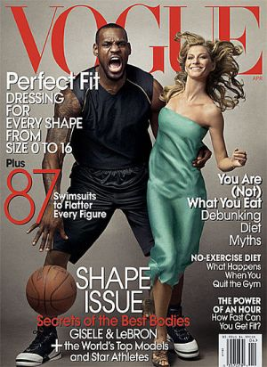 Vogue magazine covers - mylusciouslife.com - Vogue April 2008 - Gisele Bundchen and LeBron James.jpg