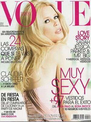 Vogue magazine covers - mylusciouslife.com - Vogue Espana July 2008 - Claudia Schiffer.jpg