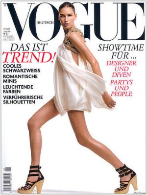 Vogue magazine covers - mylusciouslife.com - Vogue Germany January 2007 - Eugenia Volodina.jpg