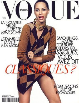 Vogue magazine covers - mylusciouslife.com - Vogue Paris October 2008 - Christy Turlington.jpg