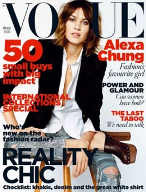 Vogue magazine covers - mylusciouslife.com - Vogue UK - March 2010 - Alexa Chung.jpg