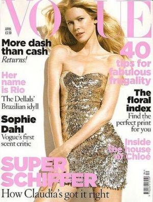 Vogue magazine covers - mylusciouslife.com - Vogue UK April 2009 - Claudia Schiffer.jpg
